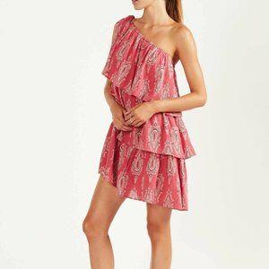 TIGERLILY Ahana Pink Frill Cotton Mini Dress NWT